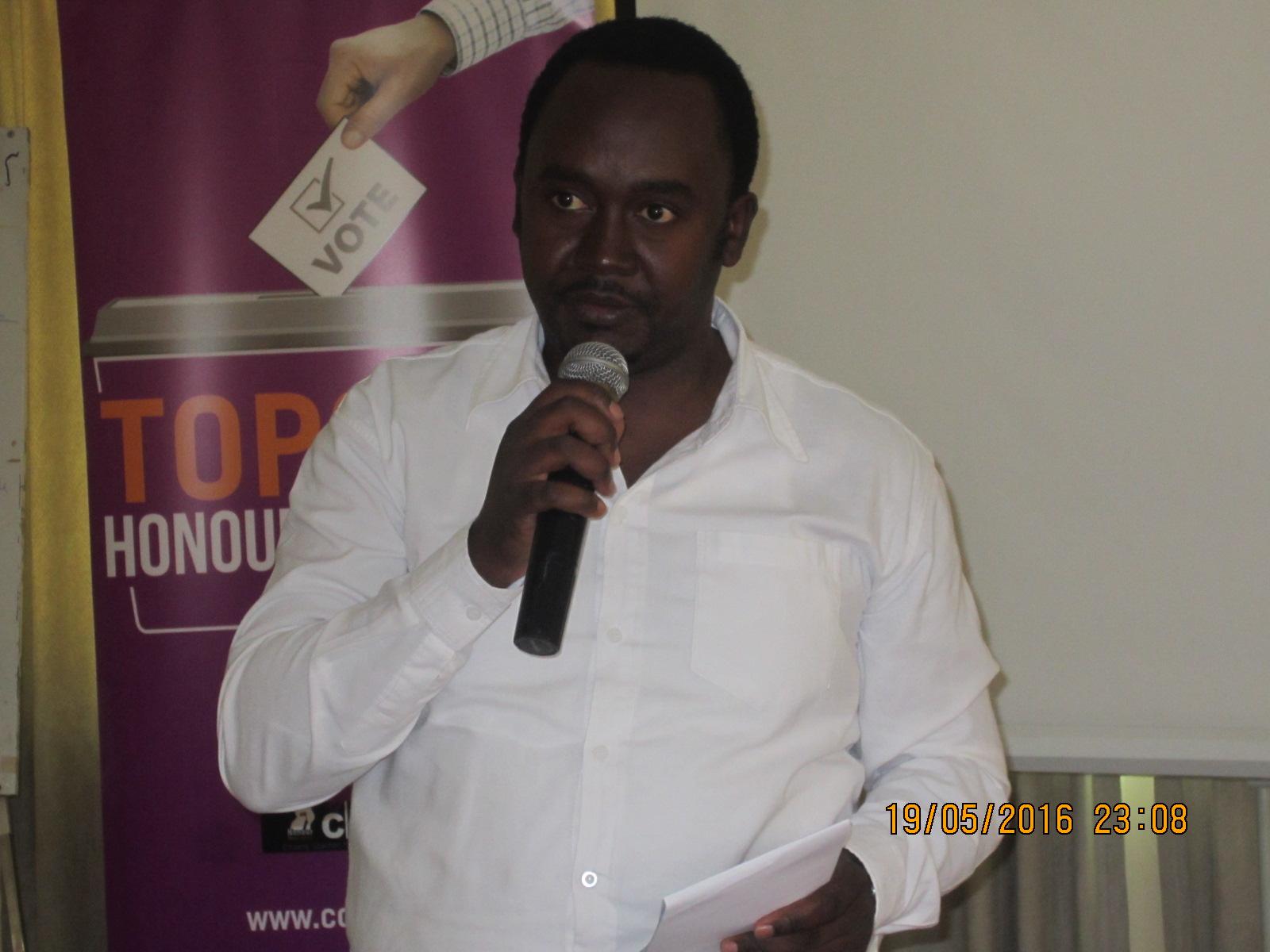 Mr. Chrispy Kaheru-coordinator CCEDU.