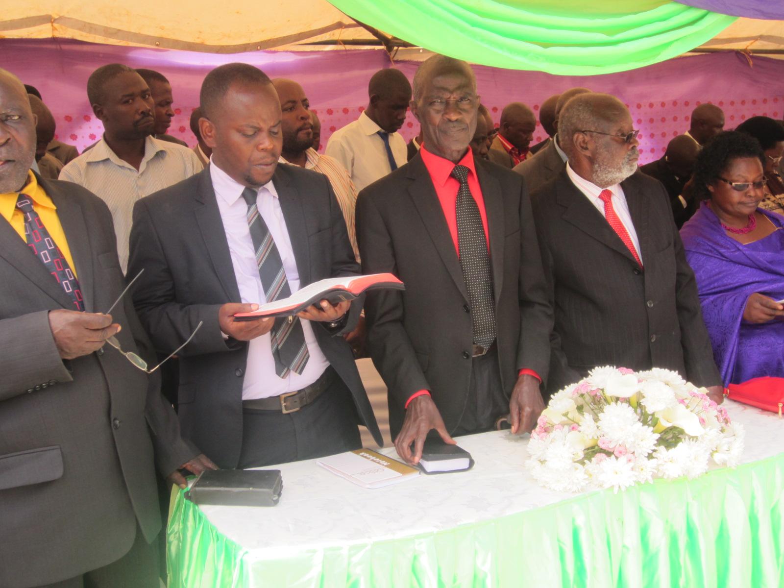 Counsel Abel kahara[with a bible]Israeland-Maj.Rurangaranga